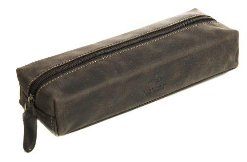 Visconti 731 Hunter Distressed Leather Pencil Case/ Small Tr