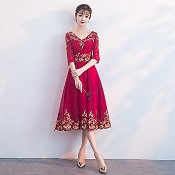 Jkjhah Vestidos Novia Rojo Escote En V Vestidos De Noche