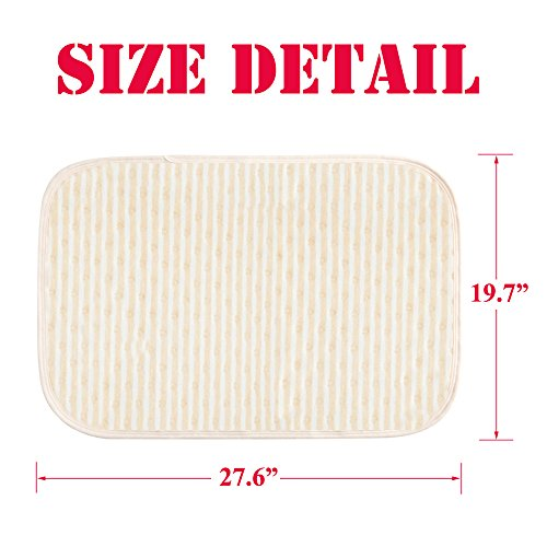 """Baby Waterproof Bed Pad Kids Natural Organic Cotton Absorbent Mattress Toddler Bedwetting Mat Crib Pee Urine Pads Changing underpads Diaper for Incontinence Pet Elderly Menstruation Women 19.7""""27.6"""""""