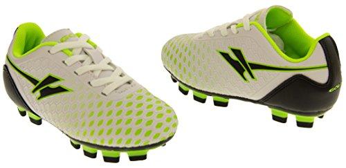 Gola Activo 5 Niños Zapatos de Fútbol de Césped Artificial Blanco