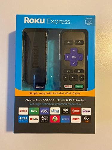 Roku Express HD 1080p Digital Streaming Media Player, 3900RW