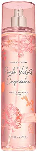 Bath and Body Works PINK VELVET CUPCAKE Fine Fragrance Mist 8 Fluid Ounce (2019 Limited Edition)