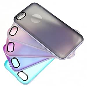 Soft Slim Frosted Clear TPU Silicone Case Cover For iPhone 5C --- Color:Pink