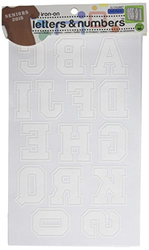 Dritz� Iron On Letters & Numbers - White (Letter Patch Set)