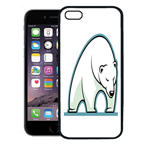 Semtomn Phone Case for iPhone 8 Plus case,Angry of Sleepy White Polar Bear Standing in Gallery Animal Beast iPhone 7 Plus case - Gallery Mammals