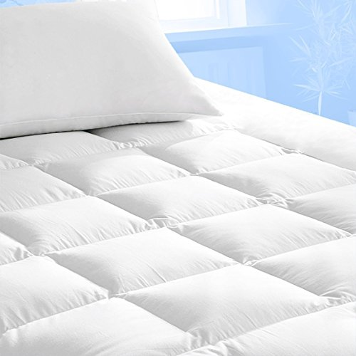 Pure Brands Mattress Topper & Mattress Pad Protector In One - Quality Plush Luxury Down Alternative Pillow Top - Make Your Bed Luxurious with Deep Pockets - Queen Size