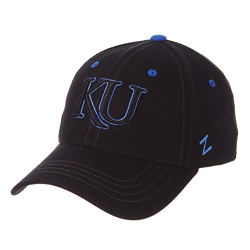 - University of Kansas KU Jayhawks Black Element DH Adult Mens Fitted Baseball Hat/Cap Size XL