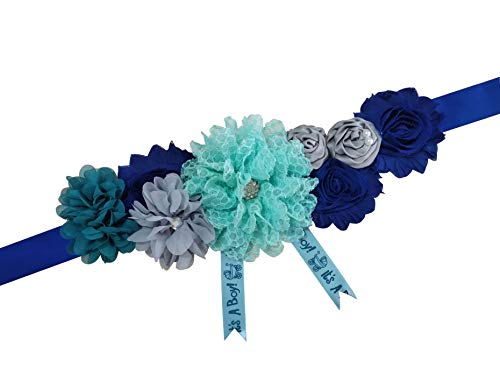 Sevenflowers Maternity Wedding Sash Belt Baby Baptism Sash Belt Gift for Boy Y06 (Royal Blue) -