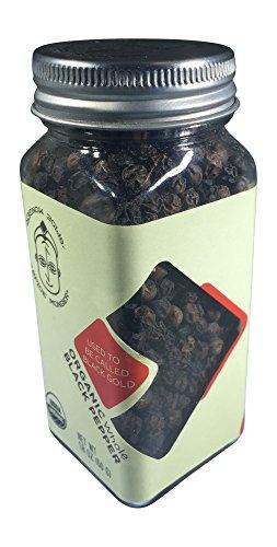 - Spice Monger Organic Malabar Black Peppercorns Whole 2.1 OZ, USDA Certified, Fresh All Naturals, Kosher Certified, Grade MG-1