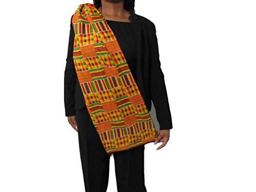 African Kente Scarf, Kente Stole, Kente Cloth, African Scarf, African Print, Black Graduation, Black History, Kwanzaa, Afrocentric, Africa, ()