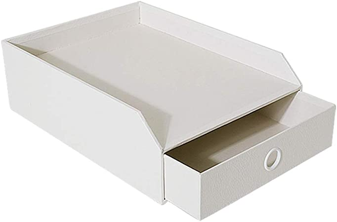 Archivadores HUXIUPING Caja de Almacenamiento Carpeta Oficina Escritorio Cajón Escritorio Simple Papelería Estante de Libro: Amazon.es: Hogar