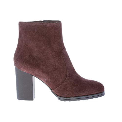 Dark With Brown Ankle Zip Boot Women Suede Leather Tod's Shoes Closure wWE4fqgxZS