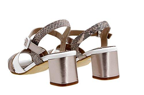 Chaussure femme confort en cuir Piesanto 1493 sandales à talons confortables amples Nude WD4k5kWv