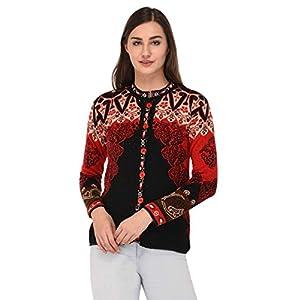 eWools Women's Multicolor Woolen Cardigan