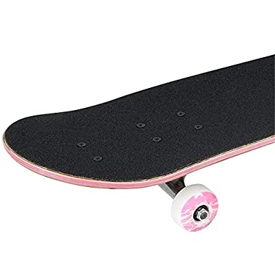 LHQ-HQ Skateboard 7 Ply Maple Deck Complete Skateboards with 52mm Skateboard Wheels for Teens Beginners for Beginner Skaters (Color : Black, Size : 78x20cm) : Sports & Outdoors