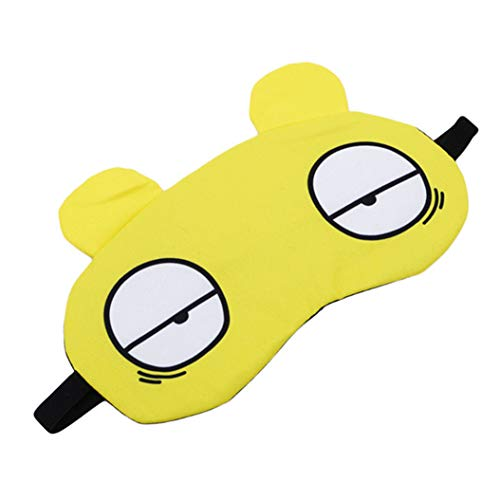 LZIYAN Sleep Masks Cartoon Sleep Eye Mask Soft Cute Eyeshade Eyepatch Travel Sleeping Blindfold Nap Cover,Yellow by LZIYAN (Image #2)