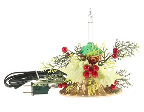 Fox Valley Traders Bubble Light Centerpiece, 1 Bulb (Bulb Leaf 1)