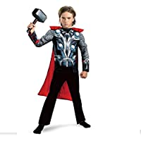 Thor Costume with Hammer for Kids Superhero Costume Fancy Dress
