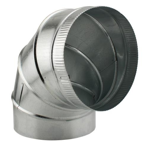 Ideal-Air 750115 Adjustable 90 Degree Elbow, (Galvanized Round Elbow)