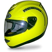 Reevu MSX1 Rear-View Motorcycle Helmet - High Visibility Yellow - L
