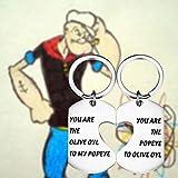 FAADBUK Popeye The Sailor Set Keychain Popeye The