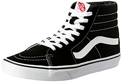 Vans SK8-Hi Sneakers, Unisex-Adult, Black/White, 6 US Men / 7.5 US Women