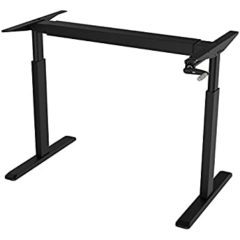 Amazon Com Vivo Manual Crank Stand Up Steel Desk Frame