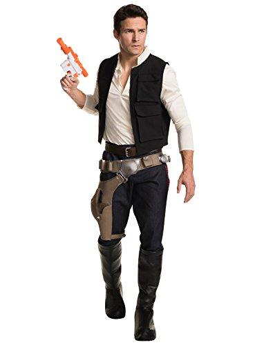 Star Wars Classic Grand Heritage Han Solo Costume, Multi, Men's (Han Solo Costume Gun)