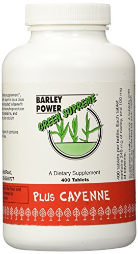Green Supreme Barley Power Plus Cayenne 400 Tablets by Barley Power (Image #1)