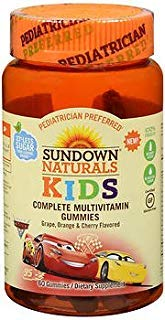 Sundown Naturals Kids Complete Multivitamin Gummies Cars - 60 ct