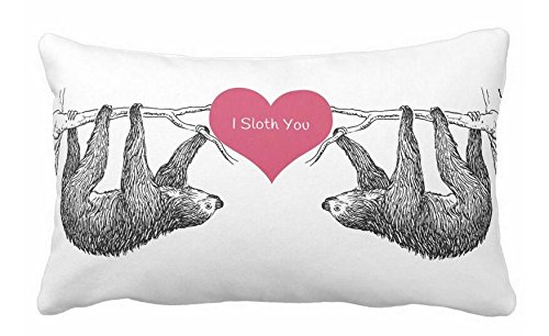 Used, Sloth = Love Pillow Case 20x30 for sale  Delivered anywhere in USA