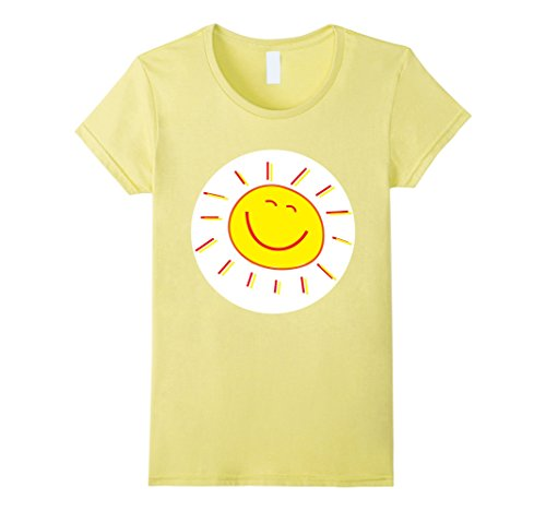Sun Halloween Costume Toddler (Womens Happy Sunshine Halloween Group Costume TShirts Large Lemon)
