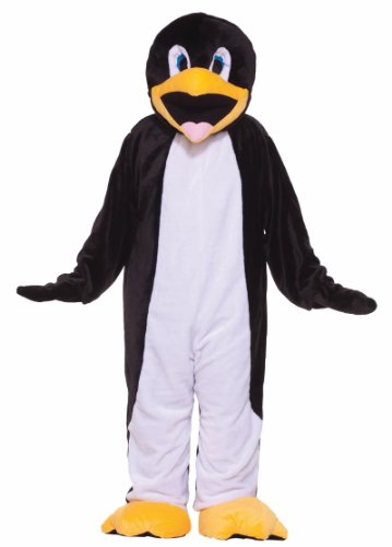 Penguin Mascot (Forum Deluxe Plush Penguin Mascot Costume, Black/White, One Size)