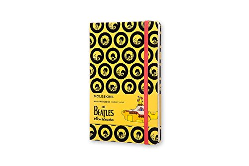Moleskine The Beatles Limited Edition Notebook, Large, Ruled, Yellow (8055002851558)