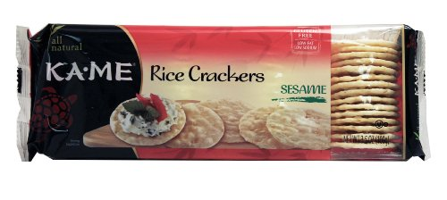 Kame Sesame Crackers - Rice Cracker Sesame 3.50 Ounces (Case of 12)