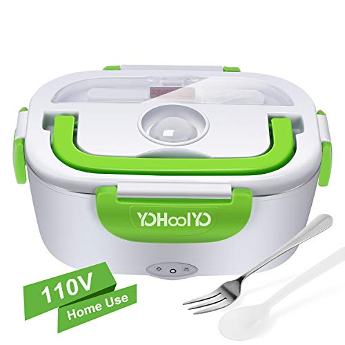 YOHOOLYO Electric Lunch Box Food Heater Portable Lunch Heater 110V with Removable Stainless Steel Container Food Grade Material