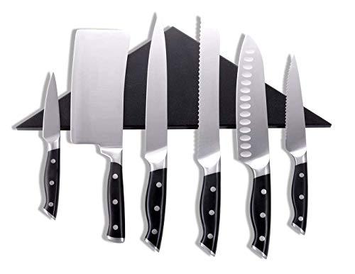 Agadda Premium Designer Stainless Steel Magnetic Knife Holder - Professional Magnetic Knife Strip/Knife Bar/Knife Rack - 17 inch (Black) by Agadda (Image #8)