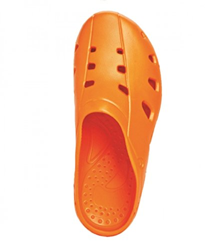 Men Women Beach Shoe Sandals Garden Kitchen Hospitality Clogs & Shoes UK NEW ORANGE 0uCPdzhv