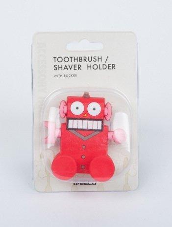 Morning Glory Toothbrush/Shaver Holder (Red robot)