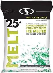 Snow Joe MELT25EB MELT 25 Lb. Resealable Bag Premium Environmentally-Friendly Blend Ice Melter w/CMA