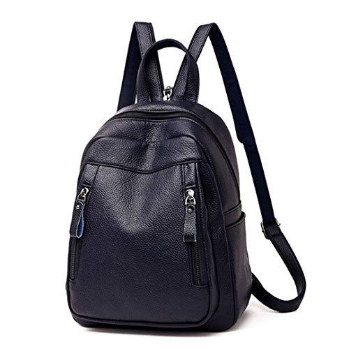 de sac d'école nouvelle mode grande sac sac capacité dos en Blue dos arrivée Sac femme cuir femme poitrine wxP0IOqa