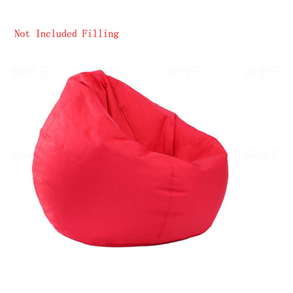 IRRIS Waterproof Bean Bag Chair Large Storage Bean Bag Oxford Chair Cover for Kids, Teens and Adults Lounger Sack Material: Cloth. Machine Washable Removable Slip Cover.(Red) by IRRIS