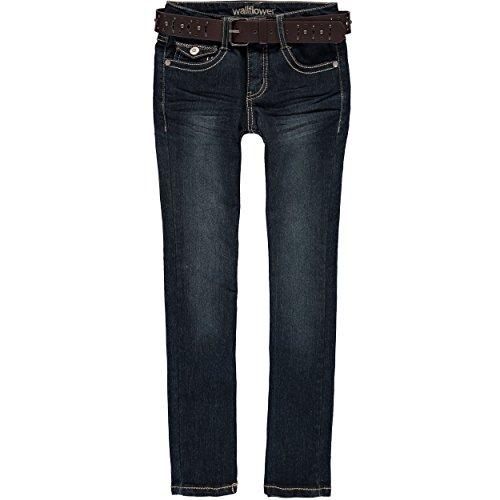 Dark Wash Belted Jeans - 1