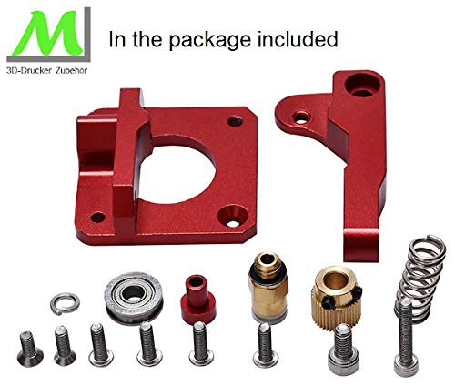 Rechte Ausf/ührung. passend f/ür viele Modelle Upgrade f/ür 3D-Drucker ML Aluminium Bowden MK8 3D-Drucker Extruder Kit F/ür 1,75mm Filament