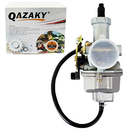 QAZAKY Pz27 Carburetor Carb Cable Choke 27mm for 4-stroke CG 125cc 150cc 200cc 250cc ATV Go Kart Dirt Bike Taotao Sunl Buyang Coolsport Lifan Kazuma Zongshen ()