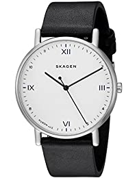 Skagen Men's 'Playtype Core' Quartz Stainless Steel and Leather Casual Watch, Color:Black (Model: SKW6412)