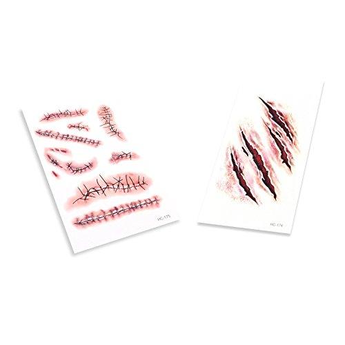 AVOLUTION Halloween Wound Scar Sticker Tatoo Deep Scar