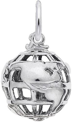 (Rembrandt Globe 3D Charm - Metal - Sterling Silver)
