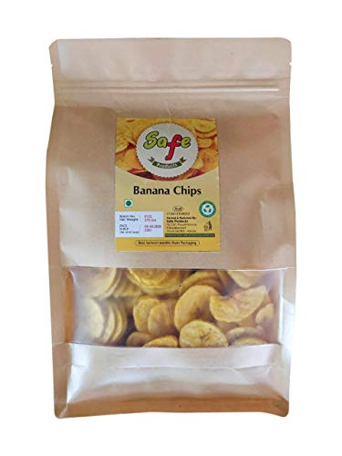 Safe Products Easy Snack Home Made Kerala Banana Chips in Coconut Oil (1KG)