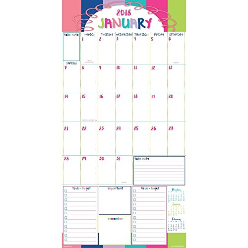 2018 Reminder Binder Albright Wall Calendar Photo #3